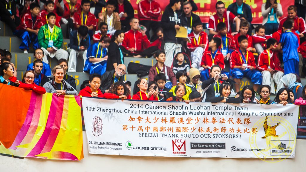 Canadian Supporters in the 2014 Zhengzhou Shaolin Tournament