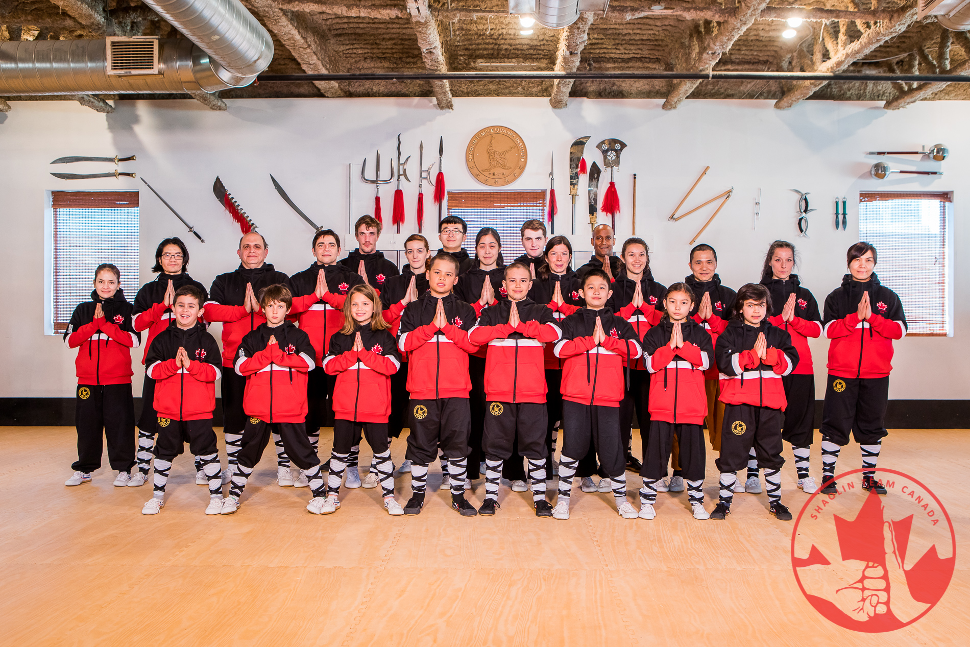 Shaolin Team Canada Athletes Team Wearing Jackets Supplied by Eagle View International