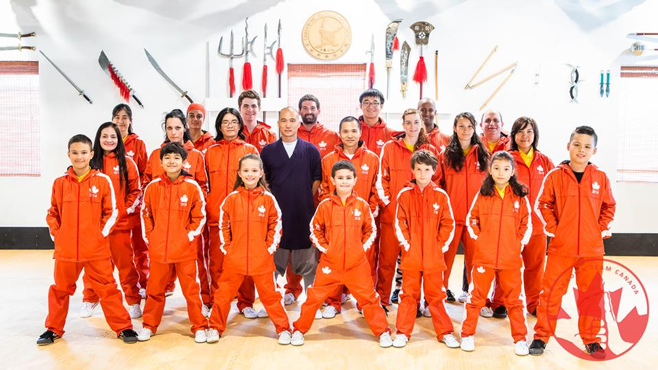 Shaolin Team Canada with tracksuits