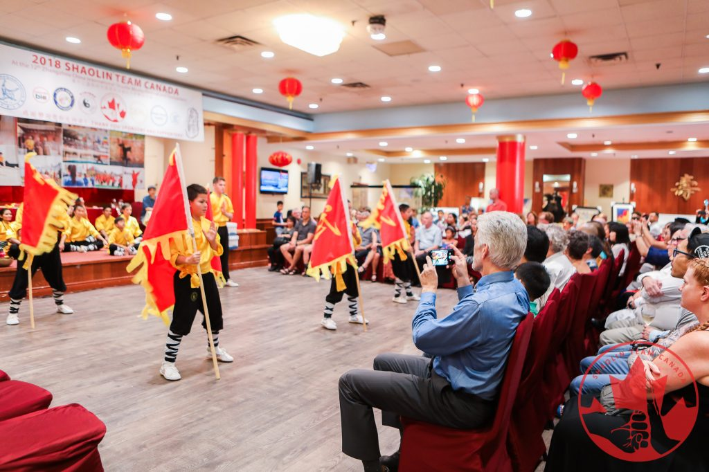 Shaolin Team Canada Banquet Flag Performance