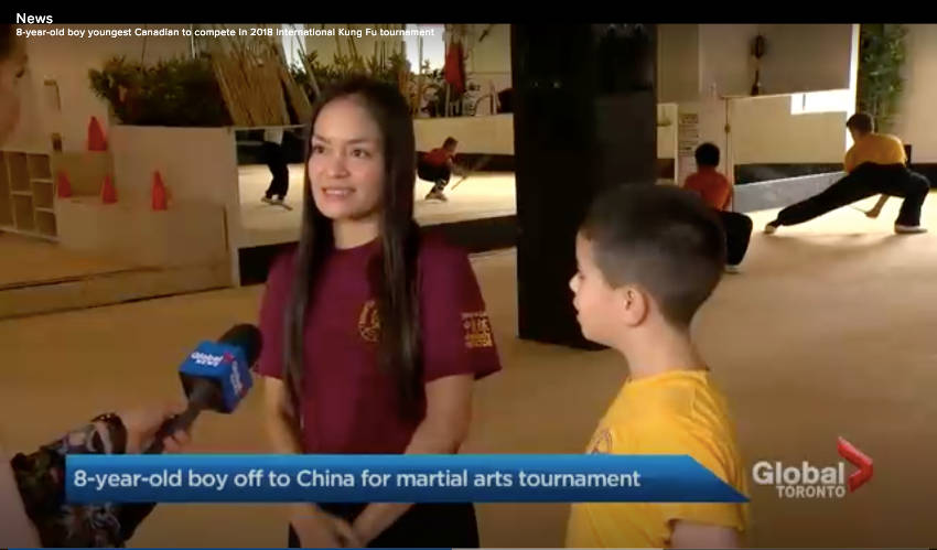 Shaolin Team Canada Global News