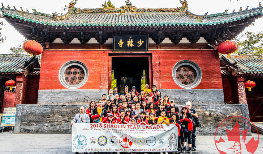 Shaolin Team Canada at the Temple in 2018